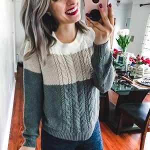 Merona Target Cozy Colorblock Sweater Medium